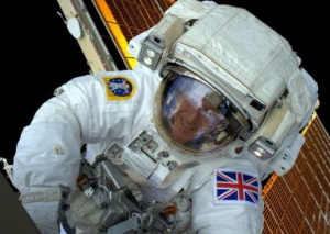 Time Peake during his spacewalk
